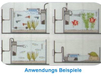 aquarium innenfilter magic silent sream 700 l h aquarien 60 150l. Black Bedroom Furniture Sets. Home Design Ideas